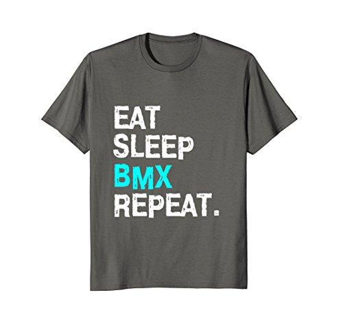 Mens Eat Sleep BMX Repeat T-Shirt Bike Racing for Women Men Race Small Asphalt from Eat Sleep BMX Repeat Shirts