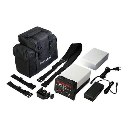 (Photogenic ION Lithium-ion Pure Sine Wave Inverter System with Spare Battery & Case)