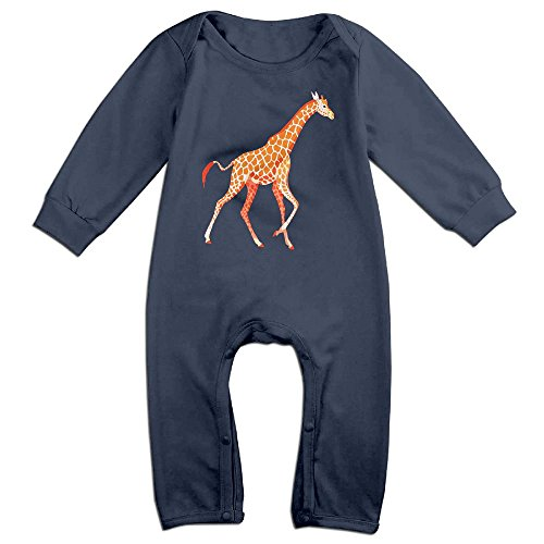 Ketchup Costume Australia (Boy & Girl Infants Giraffe Long Sleeve Climb Jumpsuit 24 Months Navy)