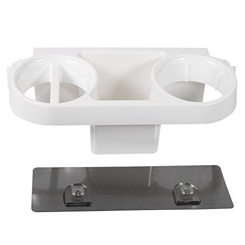 1Pc Multi-functional Plastic Bathroom Wall-mounted Sucker Hair Dryer Storage Rack Holder Shelf