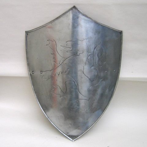 (ITDC Embossed Steel Medieval Lion Shield Wearable Costume)