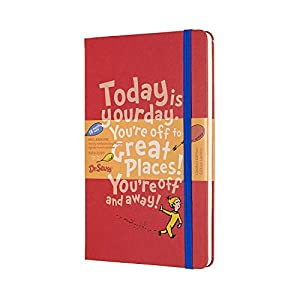 Moleskine-Weekly-Diary-18-Months-Dr-Seuss-in-Limited-Edition-Academic-Diary-20192020-with-Hard-Cover-and-Elastic-Closure-Large-Size-13-x-21-cm-208-Pages-Red