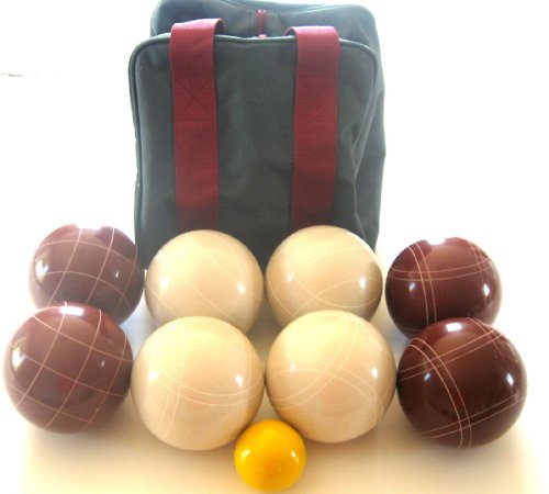 Epco Premium Quality Tournament Set, Red and White Bocce Balls - 110mm. Bag included. [Misc.]