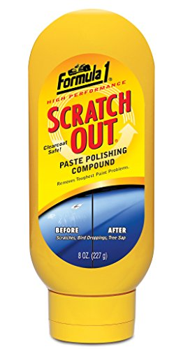 Formula 1 Scratch Out - Scratch Remover for All Auto Paint Finishes - 8 oz. Paste - To Polish Best Scratches Remove