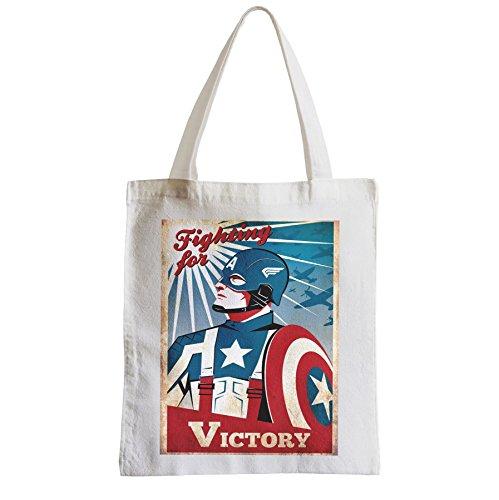 Avengers Plage Vintage Etudiant Captain Grand Shopping Sac America xqnBxSY7