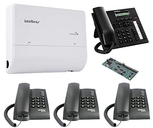 Kit PABX Telefonia Fixa 2x4 Disa Intelbras TI 830 i Kit 15