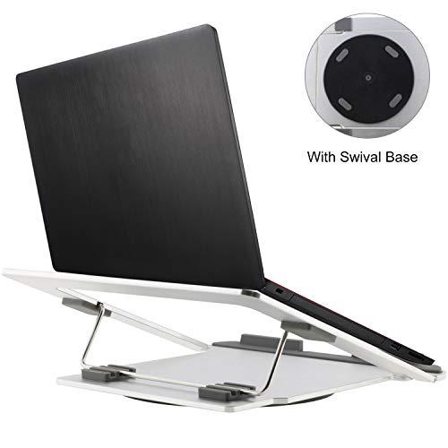 Homend Foldable Aluminum Laptop Stand, Universal Notebook Cooling Platform Desktop,Multi Gear Adjustment, Compatible for MacBook, Chromebook, PC Laptop | Fits 11