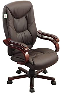 luxury office chairs leather. luxury wooden frame extra padded desk computer office chair in five colours dark brown chairs leather