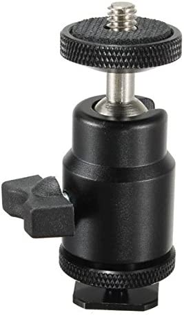 360 Swivel Mini Bracket Ballhead Stand 1//4 Screw For DSLR Tripod