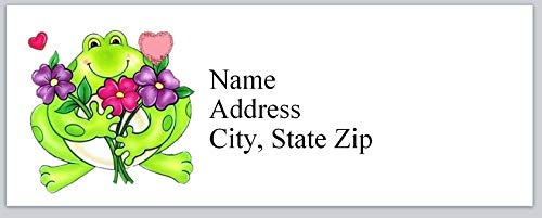 150 Personalized Return Address Labels Cute Frog (bx 715)
