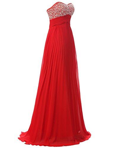 Sarahbridal Damen Lang Chiffon Herzenform Abendkleider Brautjungfernkleider Faltenrock Abschlussballkleider SSD182 Tuerkis-c 3cWXVXZ5Gs