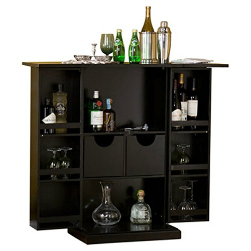 Stylish Bar Cabinet Mini Home Liquor Wine Glass Storage Expandable Furniture Homegoodsreview