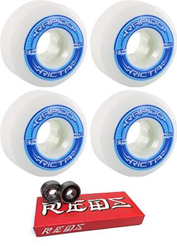 超熱 Ricta 52mmホイール ラピドラウンドスケートボードホイール ボーンベアリング付き B07HRKSKC8 - 8mmボーン 52mmホイール スーパーレッドスケート定格スケートボードベアリング - - 2個セット B07HRKSKC8, 真珠の杜 LUXE:bde78483 --- mvd.ee
