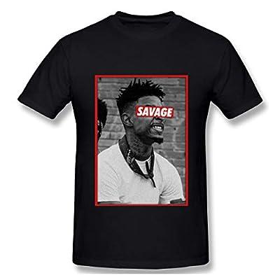 Maxdot Mens Cotton T-Shirt with 21 Savage Printing