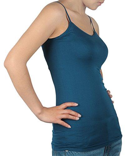 white Damen 3pack Top blue Einfarbig black Ilovesia