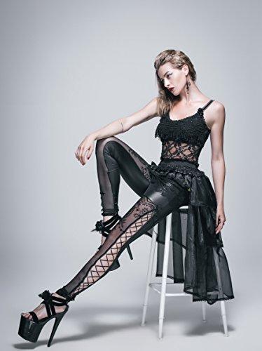 Devil noir Schwarz Jupe Unique Trapze Taille Fashion Femme rBnqTwrC