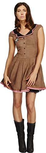 Smiffy's Women's Fever Wild West Costume, Dress, Western, Fever, Size 10-12, 33794