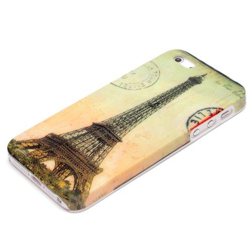 deinPhone Apple iPhone 5 5S HARDCASE Hülle Case Eiffelturm Paris