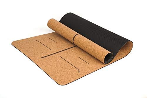 YOOMAT 5 MM TPE & Natural Cork Yoga Matte Pad Rutschfeste Abnehmen Übung Fitness Gymnastikmatte Bodybuilding Esterilla Pilates
