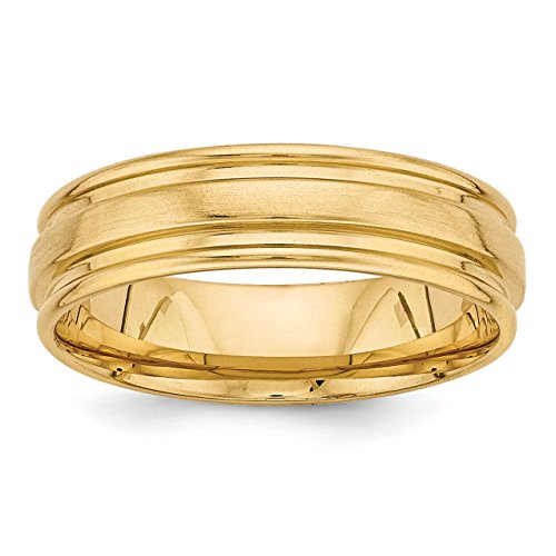 Comfort Fit Fancy Wedding Band - 14k Yellow Gold Standard Comfort Fit Fancy Wedding Band Size 13