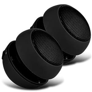 Samsung Galaxy Fame S6810 Doble Mini Cápsula Viajes recargable Loud 3.5mm Altavoz Bass Jack de entrada Para Jack (Negro) Por Spyrox