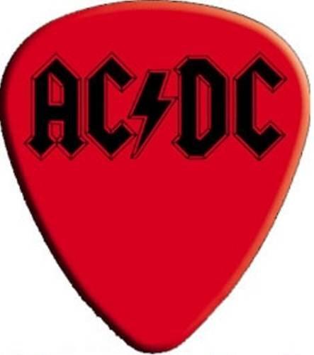 Guitar Pick - Ac/dc - Red Black Logo Angus *Pack of 2* - Licensed NEW (Guitar Dc Logo)