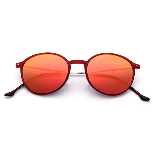 Mujer Frame Gafas Hombre Sol Gold Ultraligeras Lens Retro Frame Red Lens Gafas Y Blue Redondas Sol Gafas Pink TLMY de Sol Color De Polarizadas De para OPgcdq