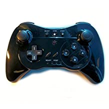 Wireless 3 in 1 Classic Pro Controller Gamepad for Nintendo Wii U - Black