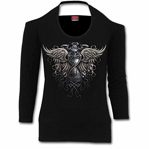 Spiral Damen Lamarmshirt schwarz schwarz