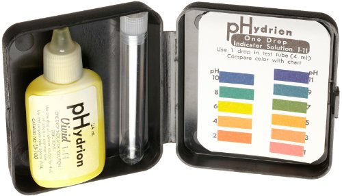 Micro Essential Lab UI-100 Hydrion Wide pH Indicator Solution Kit, 1.0 to 11.0 pH ()