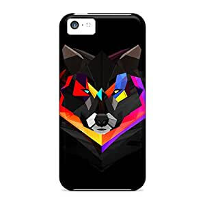Fashionable YEKRtoE3655uiCVi Iphone 5c Case Cover For Techno Wolf Protective Case