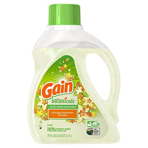 Gain Botanicals Plant Based Detergent, Orange Blossom Vanilla, 48 Loads, 75 Ounce ()