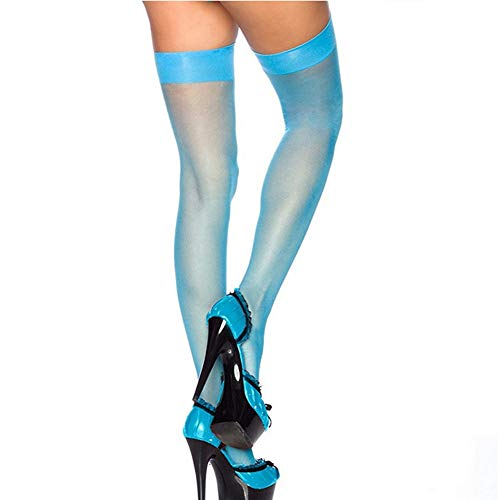 Women Lace Top Thigh-High Silk Stockings Above Knee Sock Pinkycolor by Lowprofile