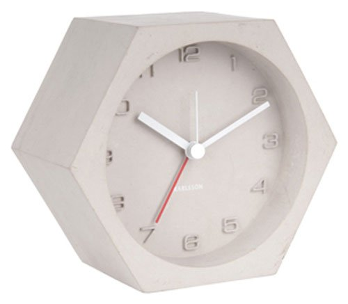 Karlsson Table Clock, Concrete, Gray, One Size