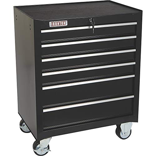 (Ironton 26in. 6-Drawer Rolling Tool Chest - 26.75in.W x 18in.D x 33.3in.H)