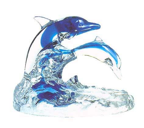 Crystal Dolphin Family - Cristal d
