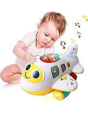 EARSOON CoolToys My First Plane Vliegtuig speelgoed voor peuters en baby's voor het leren van brieven, cijfers en kleuren - licht omhoog, zingt en beweegt rond