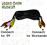NES AV Cable'Simulated Stereo' Audio Video TV Cord for Original Nintendo System replaces RF Switch (Original Version)