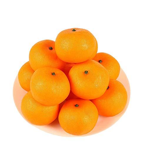HAKSEN 12 PCS Artificial Lifelike Simulation Oranges Fake Fruit Home Kitchen Cabinet Decoration ()