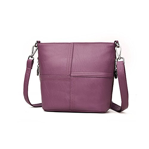 Bags Shoulder For Fashion Leather Top Purple Handbags Hobo Ladies PU Women's Bags Handle Crossbody SIMU fgwx1Uqw