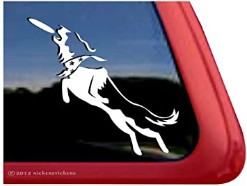Amazoncom Border Collie Disc Dog Vinyl Window Auto Decal Sticker - Vinyl window decals amazon