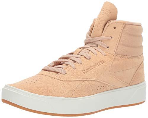 (Reebok Women's Freestyle HI NOVA Sneaker, Sahara/Chalk/Gum, 8.5 M US)
