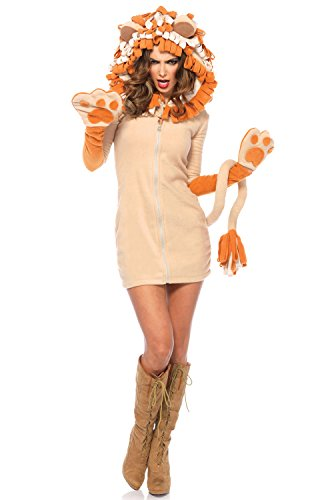 Leg Avenue Women's Cozy Lion Costume, Brown, -