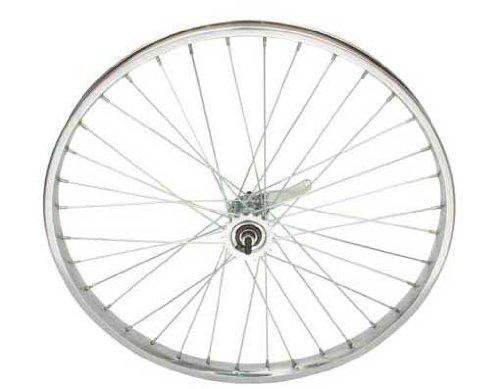 "26"" x 2.125"" Steel Coaster Wheel 12G Chrome. Bicycle wheel, bike wheel, Lowrider bike wheel, lowrider bicycle wheel, chopper, beach cuiser, stretch bike, bike part, bicycle part"