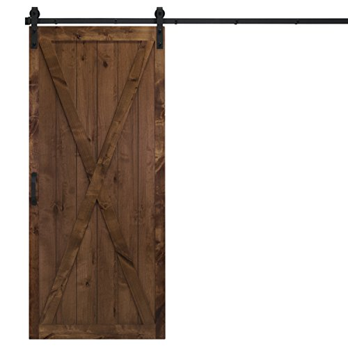 Dogberry Collections d-xbar-3684 Barn Door, Walnut