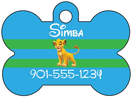 Disney The Lion King Simba Dog Tag Pet Id Tag Personalized w/ Your Pet's Name & Number