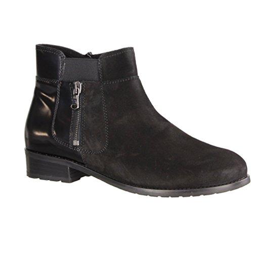Semler Zara Z21483-001 - Zapatos mujer cómodo botas, botines, Negro, cuero (terciopelo http://buildaroo.com/news/article/chevro/brush), altura de tacón: 25 mm