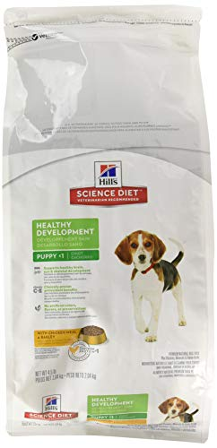 HillS Science Diet Puppy Food, Healthy Development With Chicken Meal & Barley Dry Dog Food, 4.5 Lb Bag