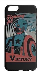 captain america retro poster Iphone 6 plastic case