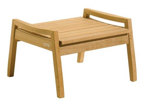 Oxford Garden - Siena Collection Shorea Ottoman | 100% Tropical Shorea Hardwood Outdoor Furniture